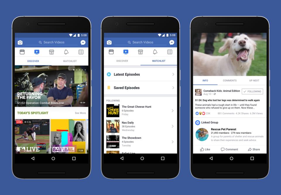 Facebook Watch: Đối thủ mới cho người khổng lồ YouTube