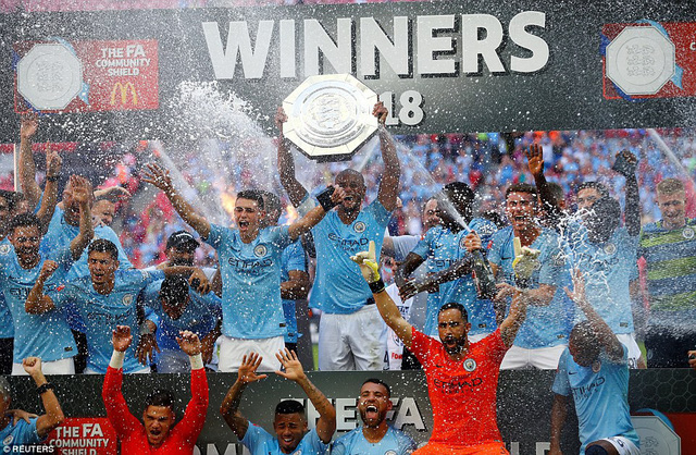 Aguero tỏa sáng giúp Man City giành siêu cúp Anh