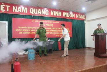 Quận Ba Đình: Đẩy mạnh công tác tuyên truyền về phòng cháy chữa cháy
