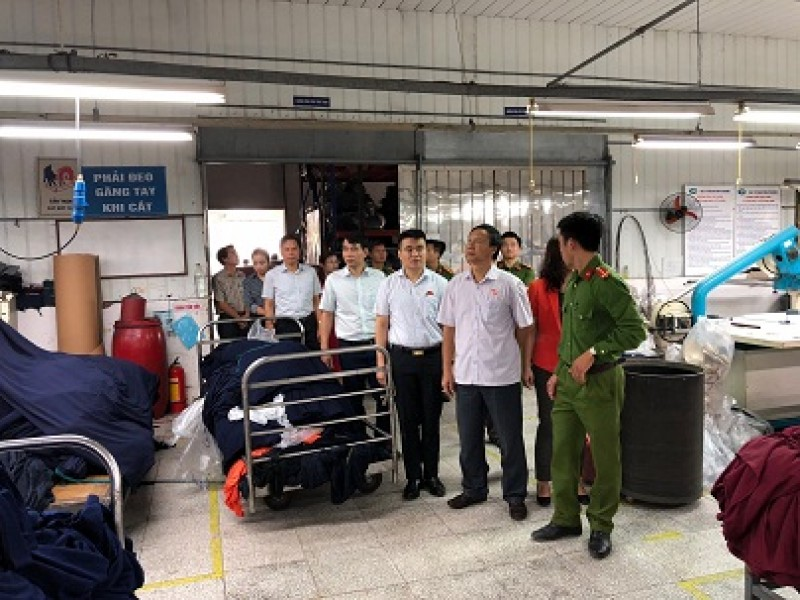 Giám sát về phòng cháy chữa cháy tại huyện Thanh Trì