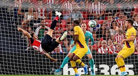 Bilbao 1-0 Barcelona: Đương kim vô địch trắng tay trong ngày ra quân
