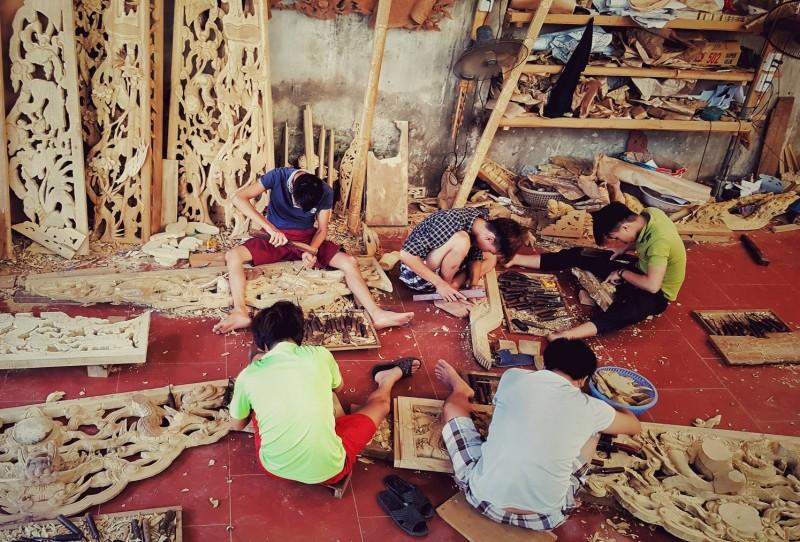 Một ngày ở làng nghề Sơn Đồng