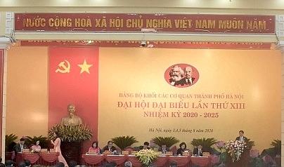 Đại hội Đảng bộ Khối các cơ quan thành phố Hà Nội tiến hành phiên trù bị