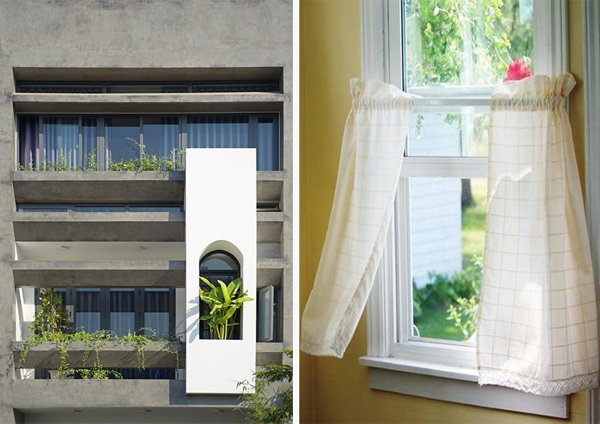 Rèm cửa cách nhiệt, hoặc dán kính màu không chỉ giúp chặn bức xạ mặt trời vào mùa hè mà còn giúp ngăn ngừa sự dẫn nhiệt ra ngoài trời vào mùa đông.