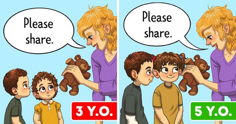 Tại sao không nên dạy trẻ cách chia sẻ quá sớm