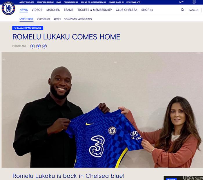 Lukaku chính thức tái hợp với Chelsea