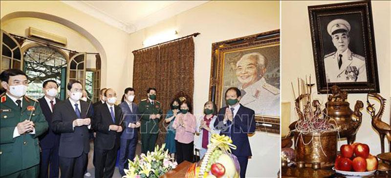 Chủ tịch nước Nguyễn Xuân Phúc dâng hương tưởng niệm 110 năm Ngày sinh Đại tướng Võ Nguyên Giáp