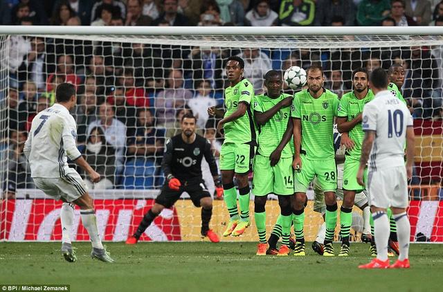 C.Ronaldo lập công, Real Madrid thắng nghẹt thở Sporting Lisbon