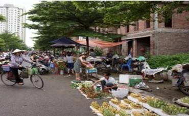 Nhếch nhác chợ cóc, chợ tạm khu đô thị