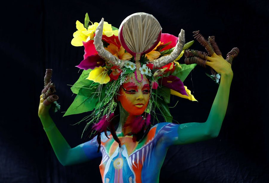le hoi bodypainting the gioi nam 2017