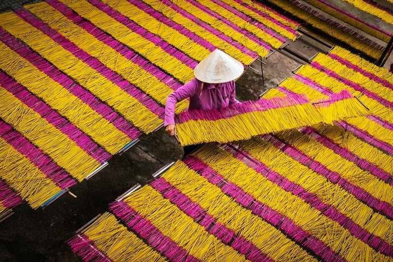 Làng nghề làm hương ở Tây Ninh lọt tốp ảnh đẹp nhất tuần