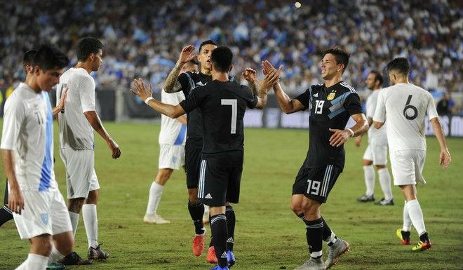 argentina 3 0 guatemala tam quen messi