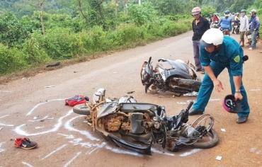 Đắk Lắk: Nữ giáo viên tử vong sau cú va chạm mạnh giữa hai xe máy