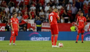 Sevilla 3-0 Real Madrid: Cú sốc đầu tiên