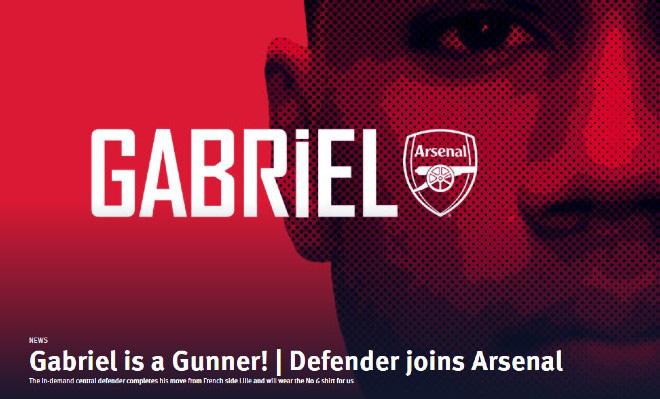 Arsenal chiêu mộ thành công Gabriel Magalhaes
