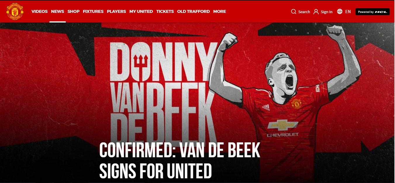MU, chuyển nhượng MU, Van de Beek