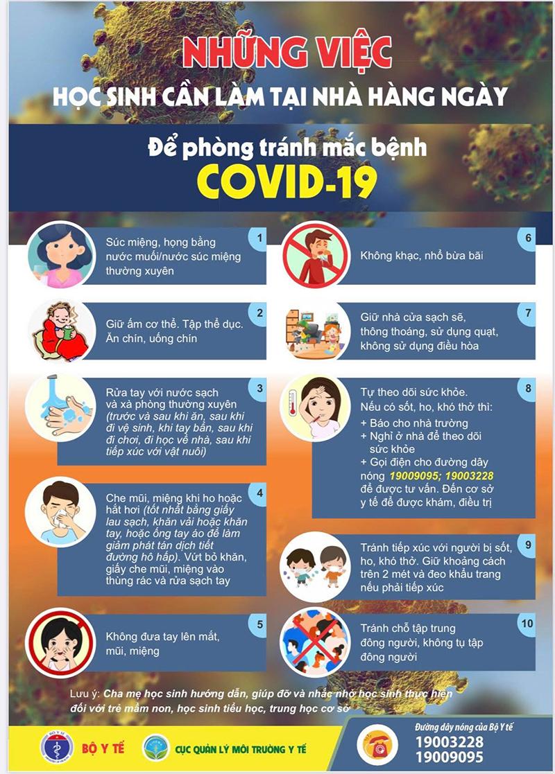 Học sinh phải làm gì khi đi học vào mùa dịch Covid-19?