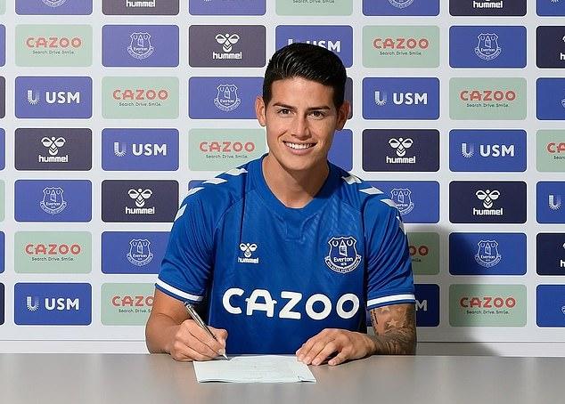 James Rodriguez tái ngộ thầy cũ tại Everton