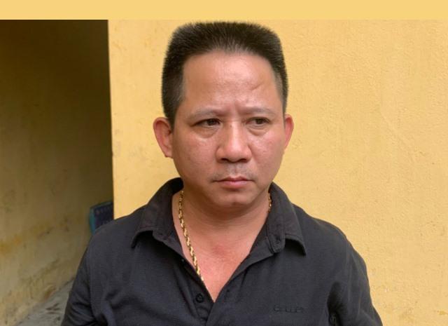 Nguyễn Văn Thiện tại cơ quan công an. Ảnh: CACC