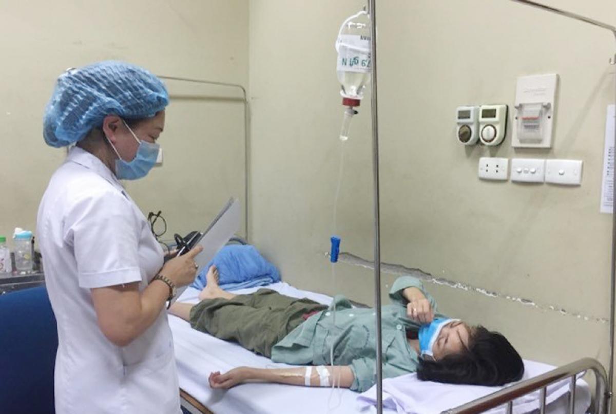 Bệnh nhân mắc sốt xuất huyết điều trị tại Bệnh viện Hữu nghị.