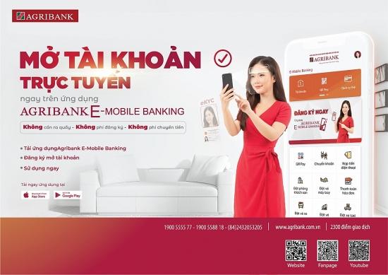 Mở tài khoản trực tuyến bằng công nghệ định danh điện tử (eKYC) ngay trên ứng dụng Agribank E-Mobile Banking