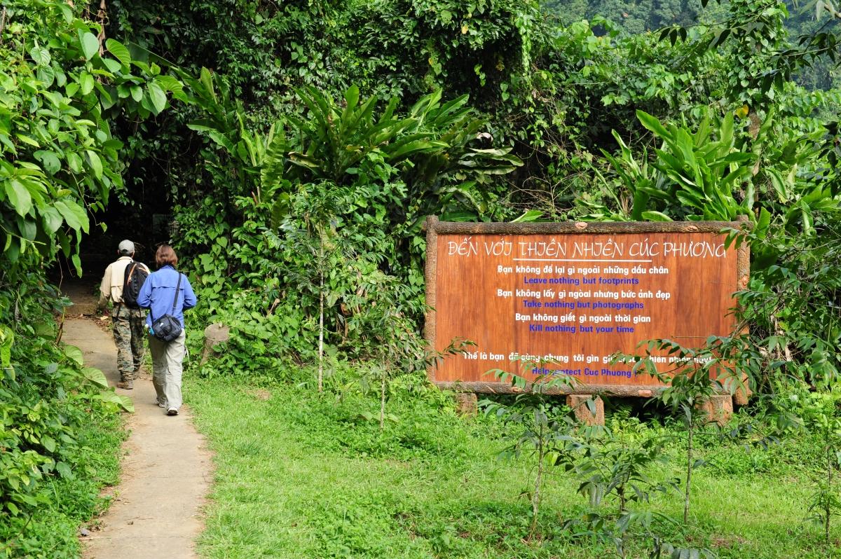 Du khách tham quan Vườn quốc gia Cúc Phương. Nguồn: Phạm Hồng Long