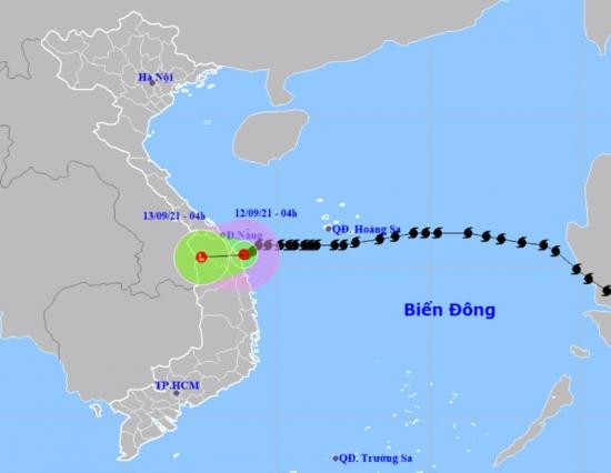 Bão số 5 suy yếu thành áp thấp nhiệt đới