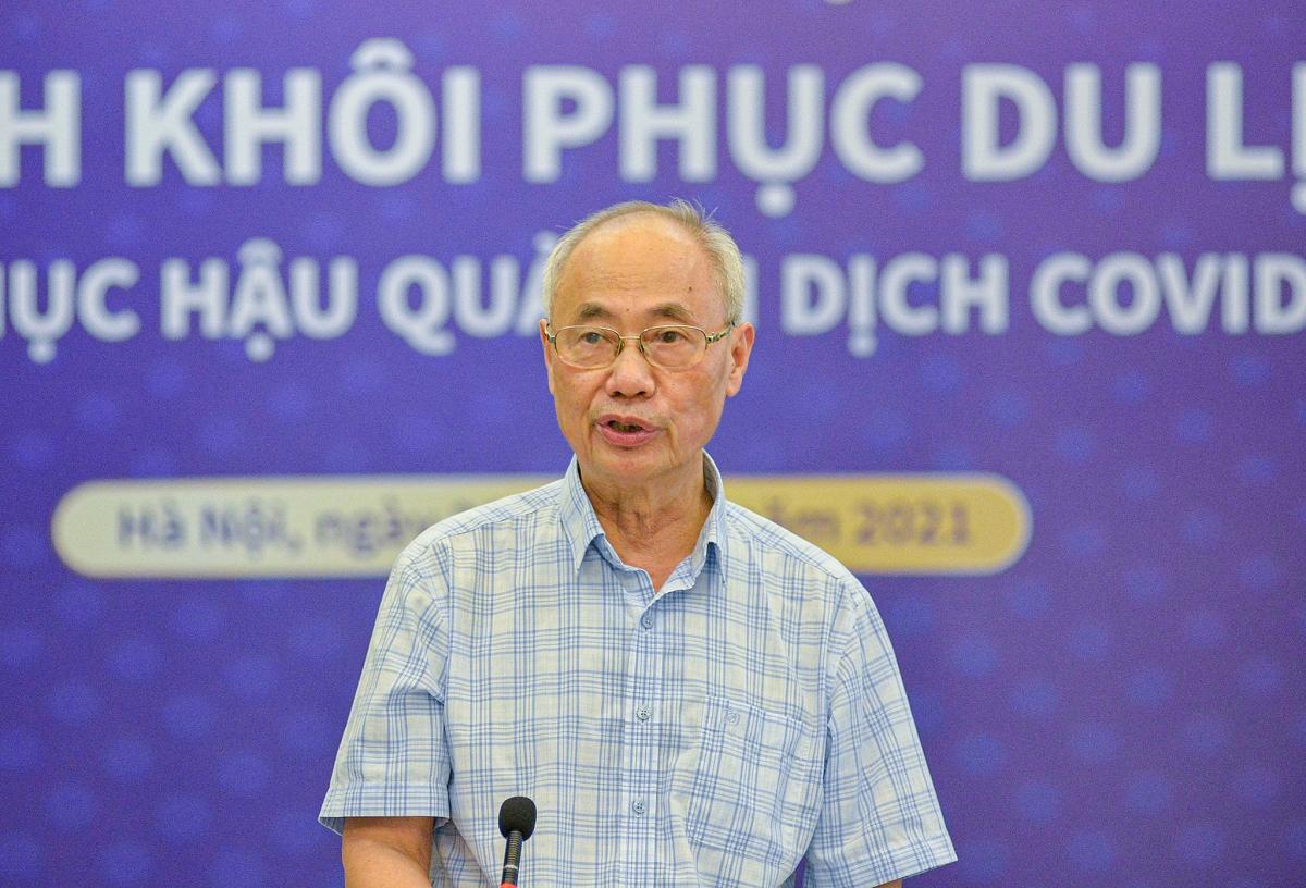Ông Vũ Thế Bình phát biểu tại chương trình phát động khôi phục du lịch nội địa. Ảnh: Tuấn Nam