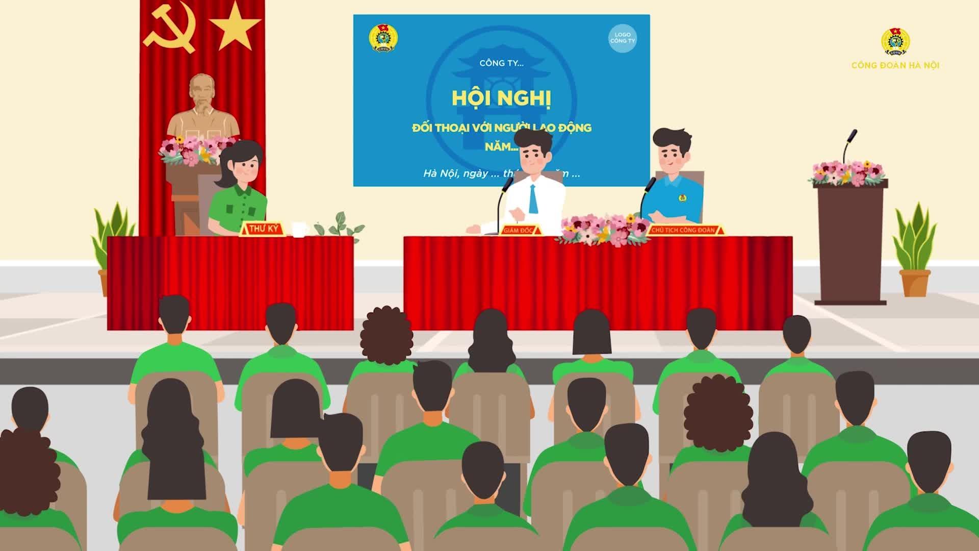 Hướng dẫn tổ chức Hội nghị Đối thoại với người lao động