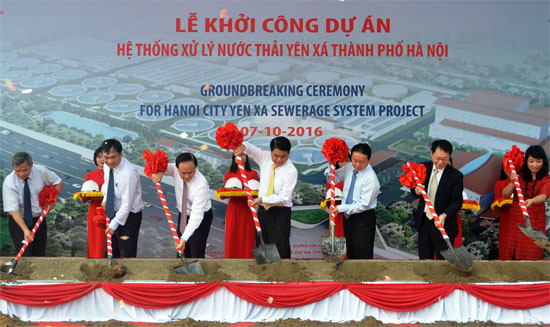 ha noi khoi cong du an lam sach lai song to lich song lu