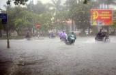 Vùng áp thấp mạnh lên thành áp thấp nhiệt đới, miền Trung mưa to