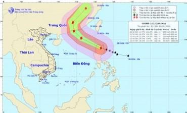 Tình hình diễn biến siêu bão Haima xuất hiện gần Biển Đông