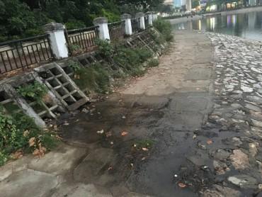 Hàng ăn xả thải ra hồ