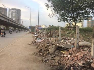 Đất dự án treo thành nơi tập kết rác