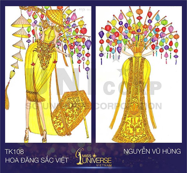 cong bo trang phuc dan toc cho dai dien viet nam thi miss universe 2017