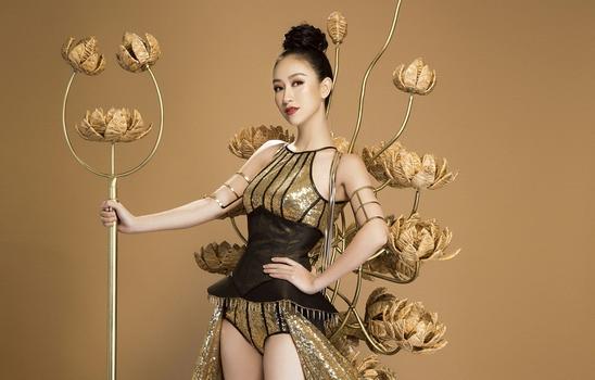 Hé lộ trang phục truyền thống của Hà Thu tại Miss Earth 2017