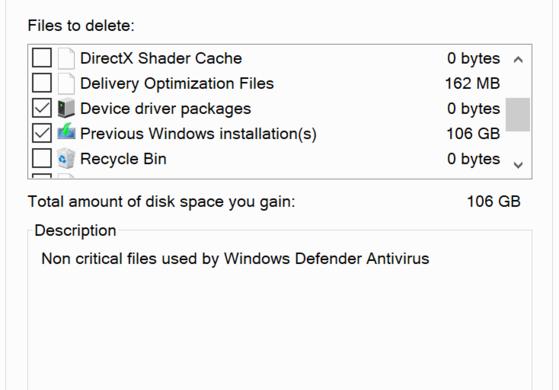 Mẹo lấy lại 100 GB dung lượng trên máy tính