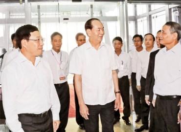 Chủ tịch nước Trần Đại Quang kiểm tra công tác lễ tân, bảo đảm an ninh cho Tuần lễ cấp cao APEC 2017