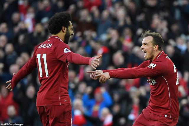 """Liverpool 4-1 Cardiff: """"The kop"""" tạm chiếm ngôi đầu"""