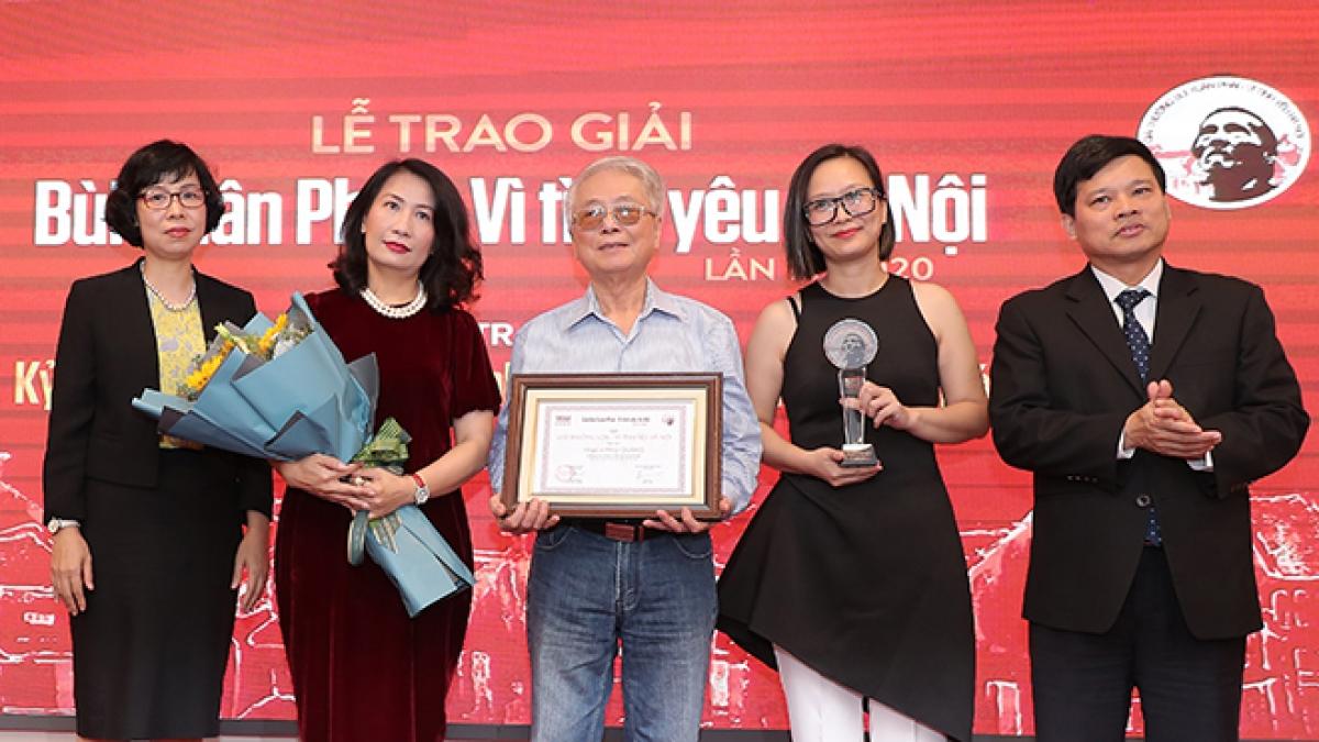 """Giải thưởng """"Bùi Xuân Phái - Vì tình yêu Hà Nội"""". (Ảnh: BTC)"""