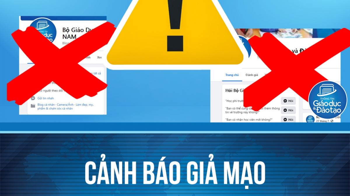 Hàng loạt facebook giả mạo Bộ GD-ĐT, công khai rao bán các loại văn bằng, chứng chỉ