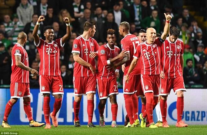 Bayern Munich và PSG sớm giành quyền vào vòng knock-out