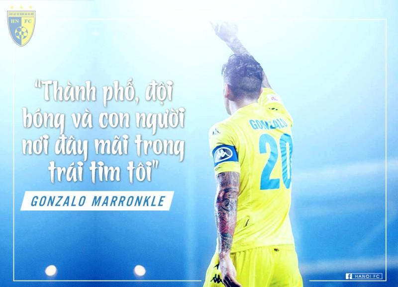 Gonzalo chia tay Hà Nội FC sau 9 năm gắn bó