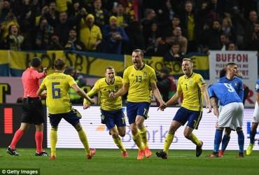 Thụy Điển 1-0 Italia: Người Ý lâm nguy