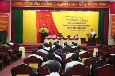 Huyện Thạch Thất: Sớm thực hiện xong công tác giao đất dịch vụ