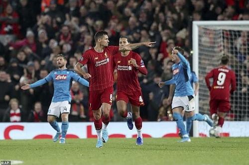 Liverpool 1-1 Napoli: The Kop hụt vé sớm vào vòng knock-out