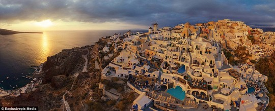 Santorini on Oia in Greece: The island has long been a favourite holiday destination thanks to its natural beauty and iconic buildings
