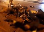 Hai xe máy đối đầu kinh hoàng, 4 người thương vong