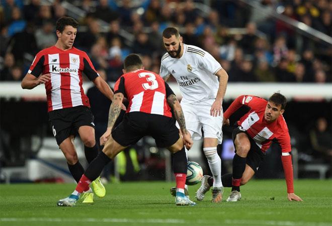 Real Madrid 0-0 Bilbao: Hàng công 'tịt ngòi' Real bị Barca bỏ lại phía sau