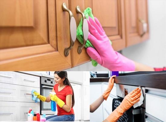 Giúp bạn vệ sinh tủ bếp nhanh chóng và hiệu quả